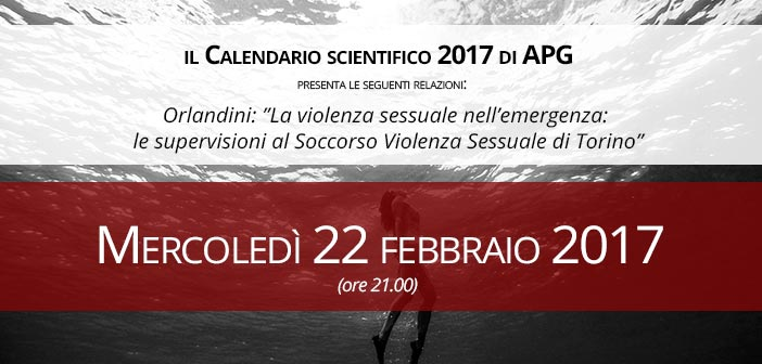 Mercoledì 22 febbraio 2017 - Calendario Scientifico Apg