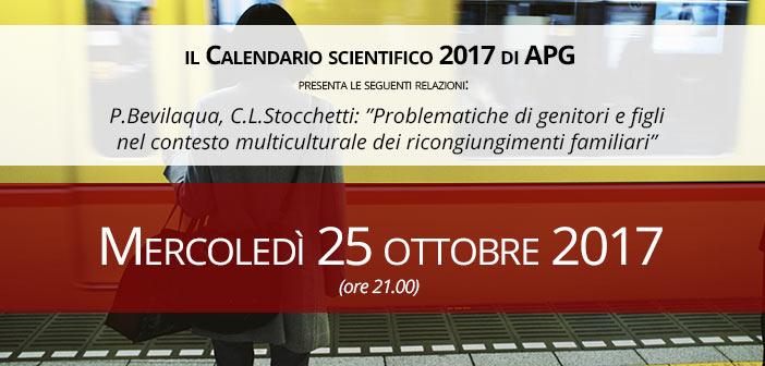 25 OTTOBRE 2017 - INCONTRI Associazione Psicoterapia di Gruppo - Milano