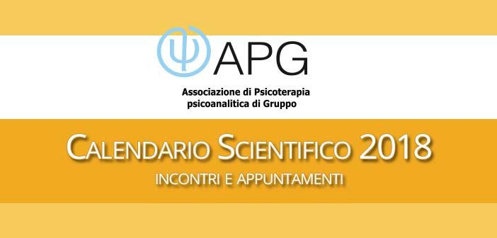 APG - Associazione Psicoterapia di Gruppo - Calendario Scientifico 2018