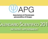 Pubblicato il Nuovo Calendario Scientifico Apg 2019 (tutti gli incontri dell'anno nuovo!)
