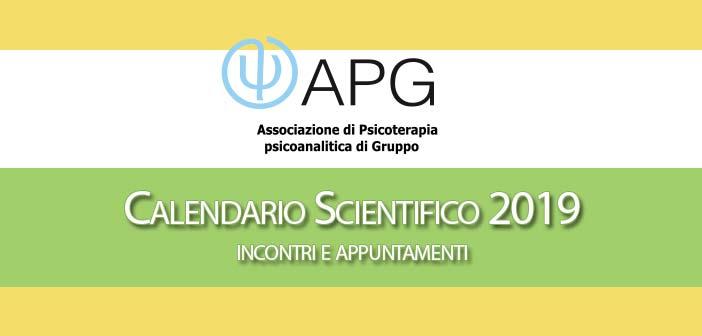 CALENDARIO SCIENTIFICO ASSOCIAZIONE PSICOTERAPIA DI GRUPPO 2019
