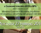 """27-02-2019 Martina Guerrini e Nicoletta Jacobone: """"La mente analitica nel setting dei gruppi non terapeutici"""""""