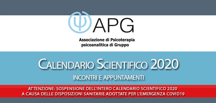 Apg Calendario Scientifico 2020